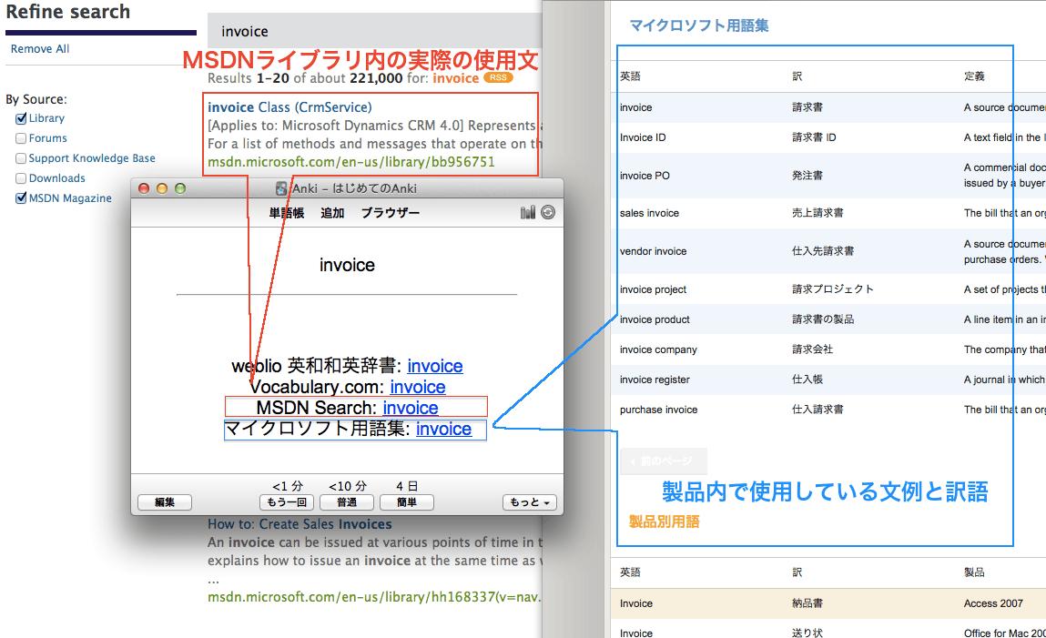 単語帳使用例